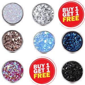Jewelry - Druzy crystal stud earrings